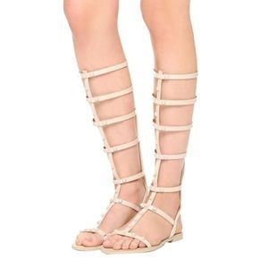 New Rebecca Minkoff Giselle Tall Studded Sandals